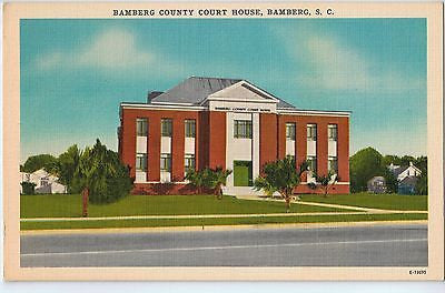 Vintage Postcard of The Bamberg County Court House in Bamberg, SC $10.00