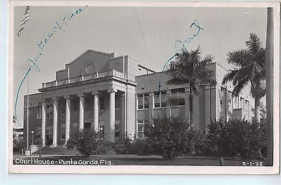 Vintage Postcard of The Court House in Punta Gorda, FL $10.00