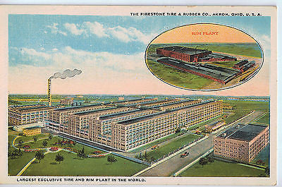 Vintage Postcard of Firestone Tire & Rubber, Akron, OH $10.00
