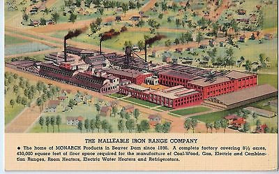 Vintage Postcard of The Malleable Iron Range Company, Beaver Dam, Wisconsin $10.00