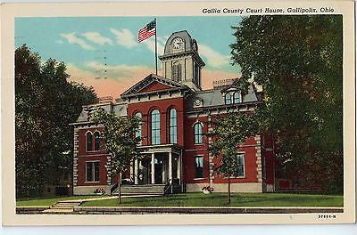 Vintage Postcard of The Gallia County Court House in Gallipolis, OH $10.00