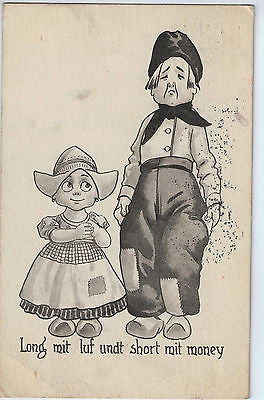 1913 Postcard of Dutch Children. $20.00