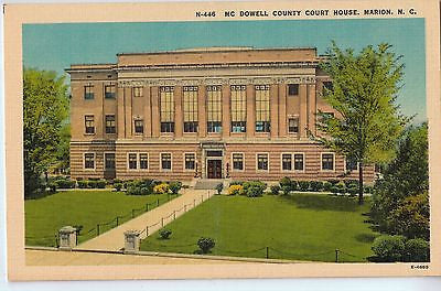 Vintage Postcard of MC Dowell County Court House, Marion, NC $10.00