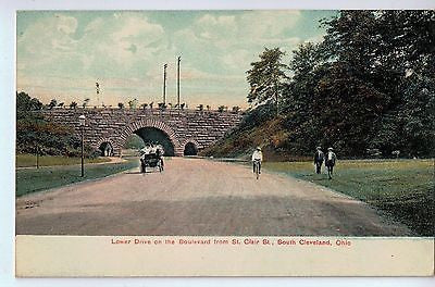 Vintage Postcard of Lower Drive on the Boulevard from St. Clair., Cleveland, OH $10.00