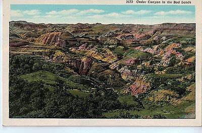 Vintage Postcard of Cedar Canyon in the Bad Lands $10.00