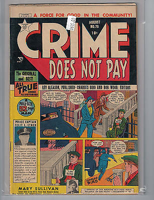 Crime Does Not Pay Issue # 78 (Aug 1949, Lev Gleason) $45.00