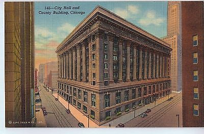 Vintage Postcard of The City Hall and County Building, Chicago, IL $10.00