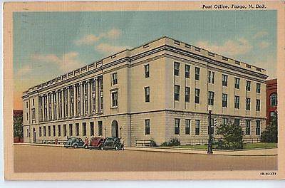 Vintage Postcard of Fargo, North Dakota Post Office $10.00