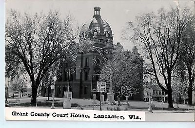 Vintage Postcard of The Grant County Court House in Lancaster, WI $10.00