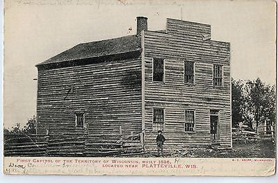 Vintage Postcard of The First Capitol of Wisconsin near Platteville $10.00