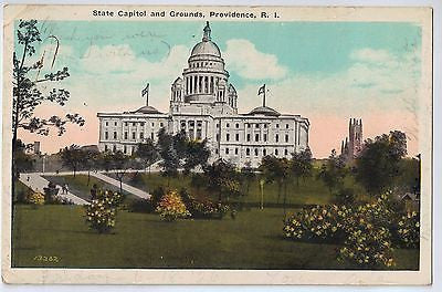Vintage Postcard of State Capitol and Grounds, Providence, RI $10.00