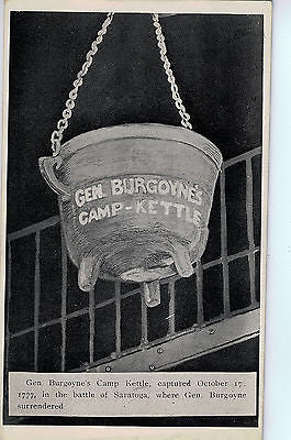 Vintage Postcard of Gen. Burgoyne's Camp Kettle $10.00