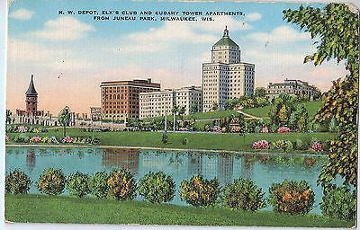 Vintage Postcard of View From Juneau Park, Milwaukee, WI $10.00