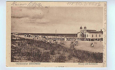 1923 German Postcard with Photo of Ostseebad Zinnowitz $15.00