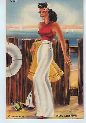 Saucy Sailorette Postcard UNUSED $7.00