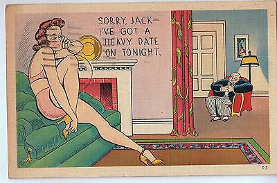 Vintage Postcard of Sorry Jack I've Got A Heavy Date On Tonight $10.00