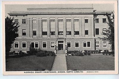 Vintage Postcard of McDowell County Courthouse, Marion, NC $10.00
