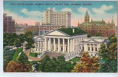 Vintage Postcard of The State Capitol Square of Richmond, Virginia $10.00