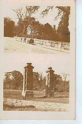 Vintage Postcard of a Road and Pillars $10.00