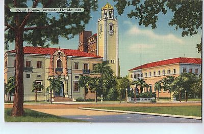 Vintage Postcard of The Court House in Sarasota, FL $10.00