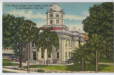 Vintage Postcard of The Marion County Court House in Ocala, FL $10.00