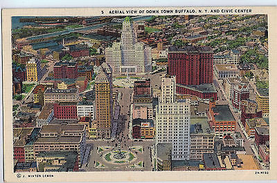 Vintage Postcard of Down Town Buffalo, NY $10.00