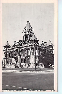 Vintage Postcard of Gibson County Court House in Princeton, Indiana $10.00
