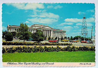 Vintage Postcard of Oklahoma State Capitol Building and Grounds $10.00