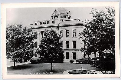 Vintage Postcard of Court House in Paris Missouri $10.00