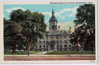 Vintage Postcard of Marshall County Court House, Marshalltown, Iowa $10.00
