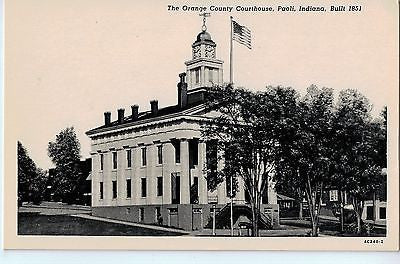 Vintage Postcard of The Orange County Courthouse, Paoli, Indiana $10.00