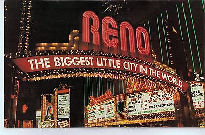 Vintage Postcard of the Reno Arch $10.00