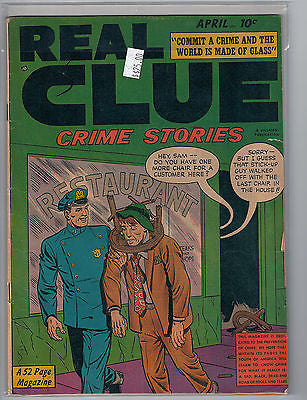 Real Clue Crime Stories Vol. 5 #2 [50] (Apr 1950) Hillman $25.00