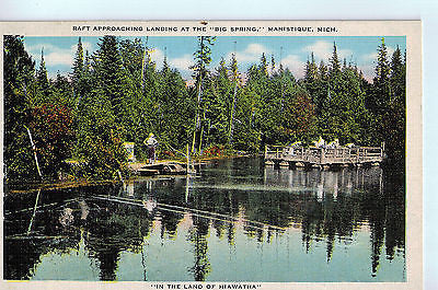 Vintage Postcard of Kitchi-Tiki-Pi Springs in Manistique, Michigan A $10.00