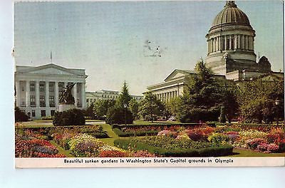 Vintage Postcard of The Gardens in Olympia, WA $10.00
