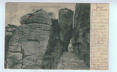 1903 Switzerland Postcard of the Bastei Felsdurchgang bei der Basteibrue $15.00