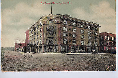 Vintage Postcard of The Otsego Hotel in Jackson, MI $10.00