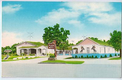 Vintage Postcard of Plaza Motel in Chickasha, OK $10.00
