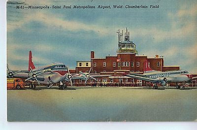 Vintage Postcard of Minneapolis-St Paul Metro Airport, Wold-Chamberlain Field $10.00