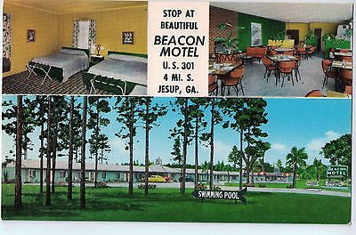 Vintage Postcard of The Beacon Motel 4 mi South of Jesup, GA $10.00