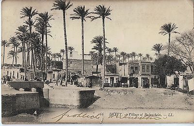 Vintage Postcard of Village of Badrachein Egypt $20.00