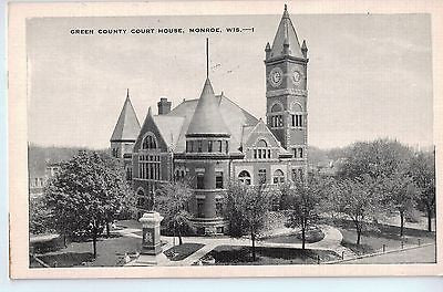 Vintage Postcard of The Green County Court House in Monroe, WI $10.00