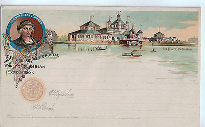 Vintage Postcard of the Worlds Columbian Exposition, Christopher Columbus $30.00