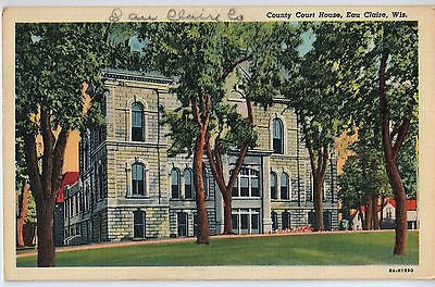 Vintage Postcard of The County Court House in Eau Claire, WI $10.00
