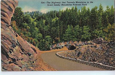 Vintage Postcard of Tunnels in The Great Smoky Mountains National Park $10.00