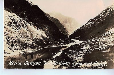 Vintage Postcard of Hell's Canyon, Snake River from Hat Point $10.00