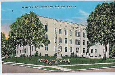 Vintage Postcard of Goodhue County Courthouse, Red Wing, MN $10.00