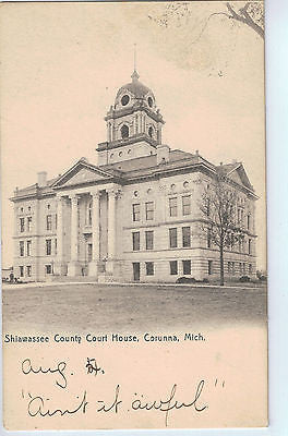 Vintage Postcard of Shiawassee County Court House, Corunna, MI $10.00