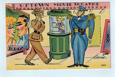 Uptown Movie Theatre Military Postcard UNUSED $5.00