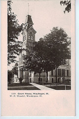 Vintage Postcard of The Court House in Waukegan, IL $10.00